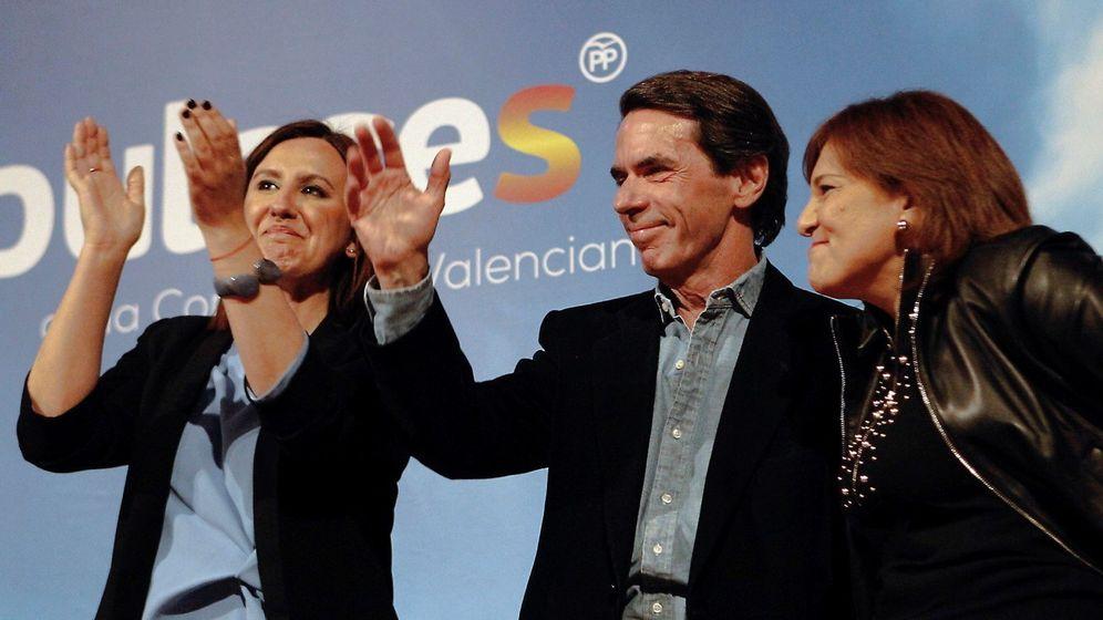 Foto: María José Catalá, José María Aznar e Isabel Bonig. (EFE)