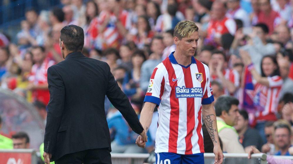 Foto: El Cholo Simeone no confía en Fernando Torres y no le quiere a su lado la temporada que viene. (Cordon Press)