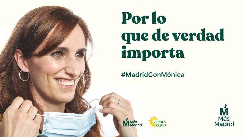 Cartel de Más Madrid.
