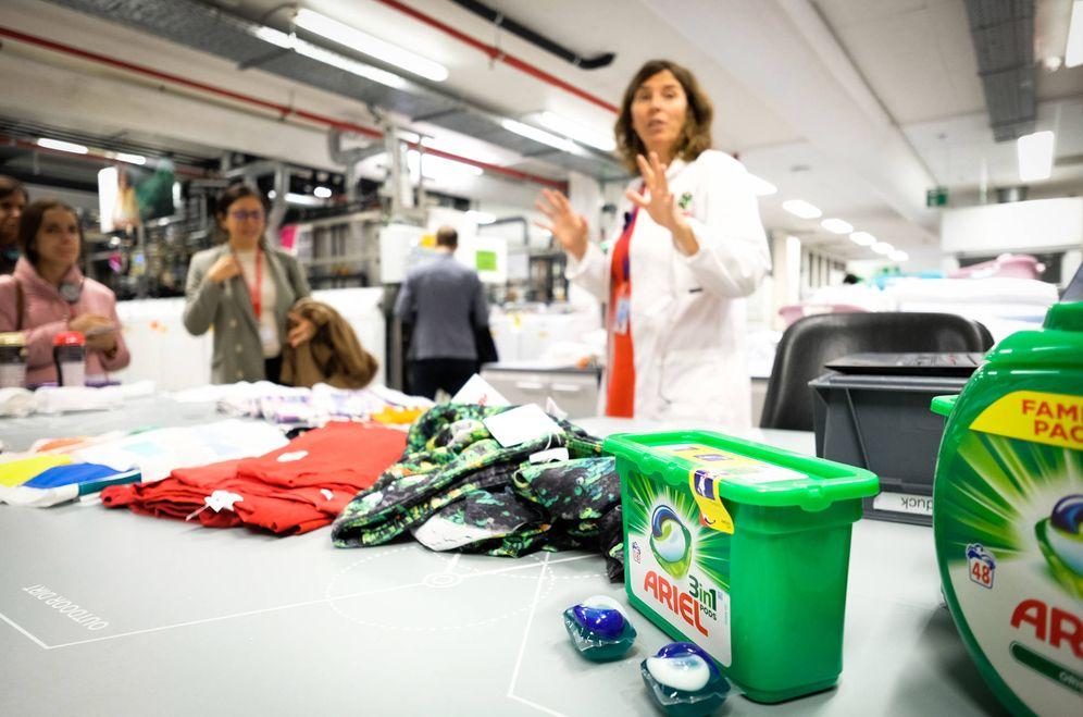 Foto: P&G compara sus detergentes con las innovaciones de la competencia en Bruselas.