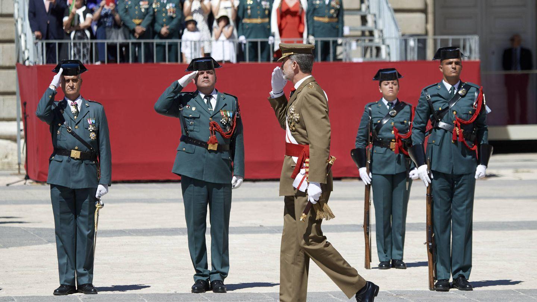Felipe VI, durante el 175º aniversario de la fundación de la Guardia Civil. (Getty)