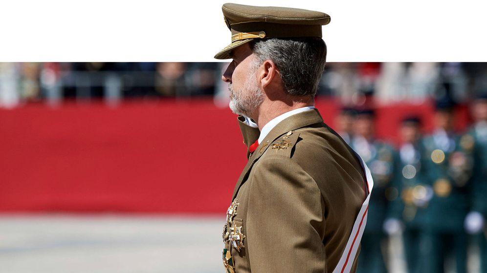 Foto: Felipe VI, en un desfile. (Getty)