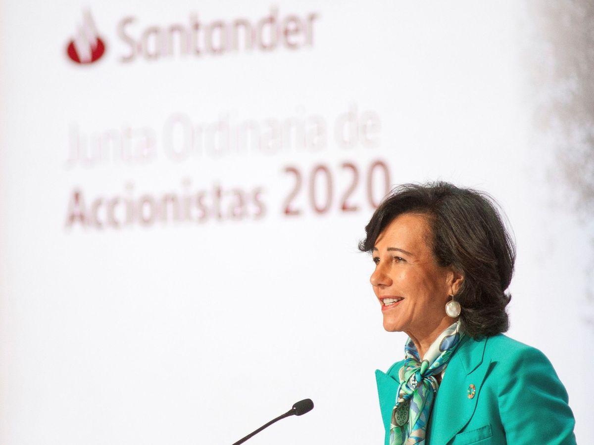 Foto: Ana Botín, presidenta de Santander, en la última junta de accionistas. (EFE)