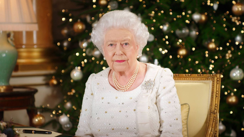 La reina Isabel, en su mensaje navideño. (EFE)