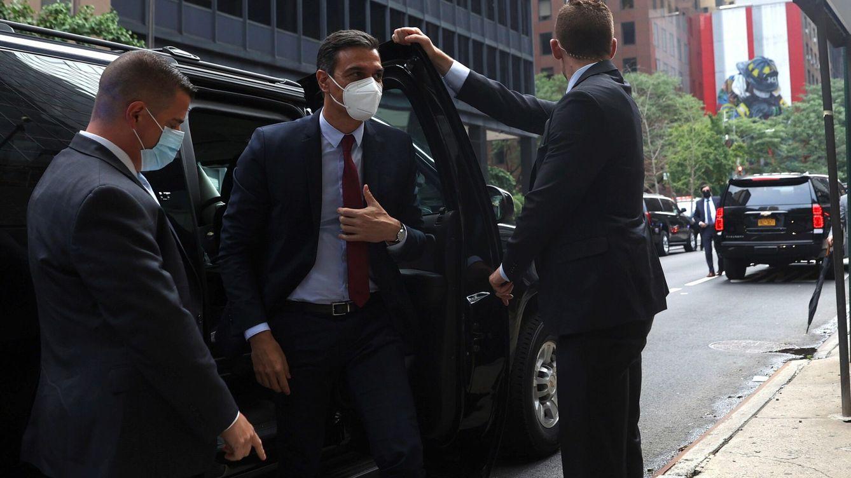 Foto: El presidente del Gobierno, Pedro Sánchez, en una de sus visitas en Nueva York. (EFE)