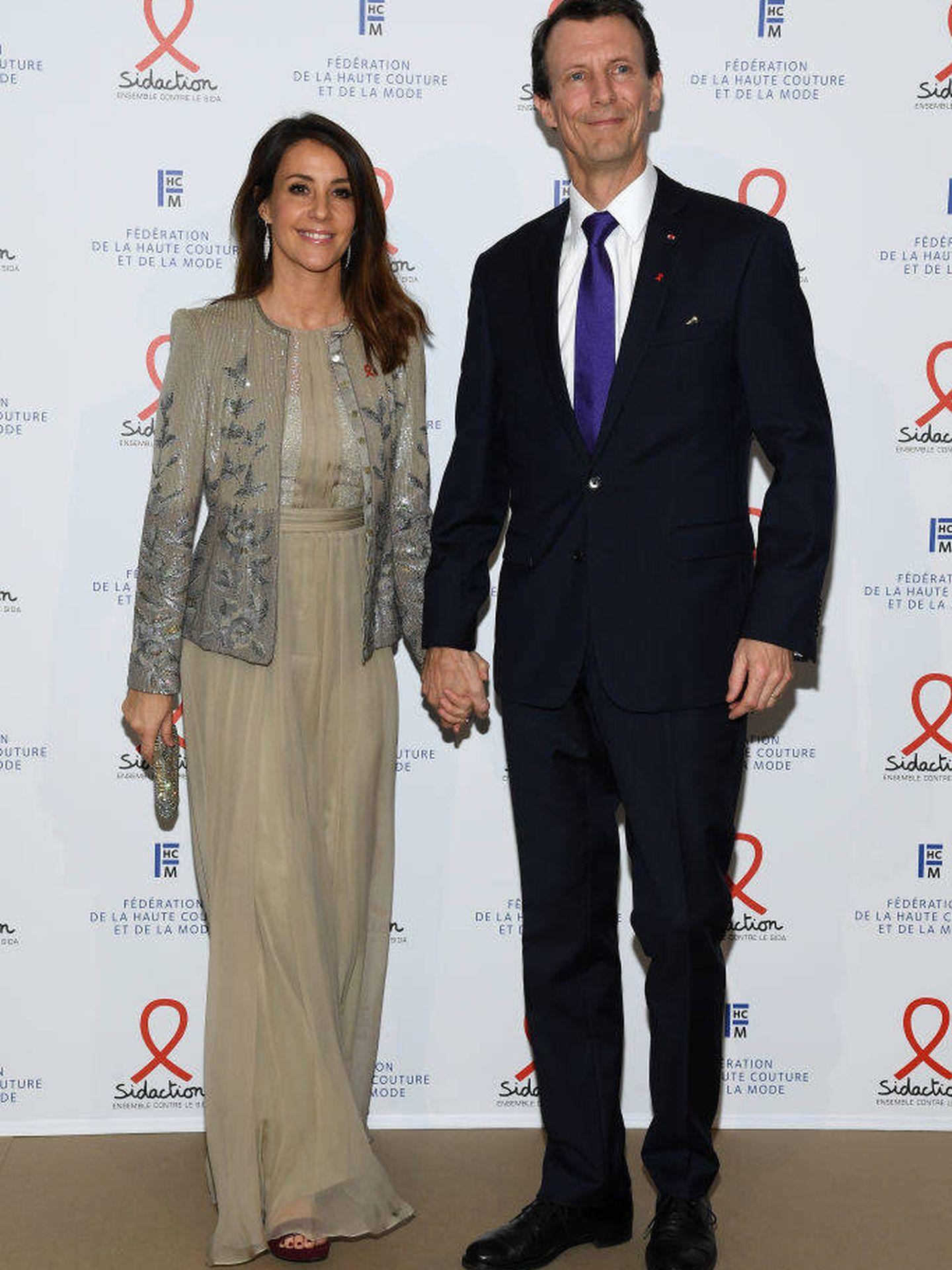 Marie y Joaquín de Dinamarca, en la Sidaction Gala Dinner 2020. (Getty)