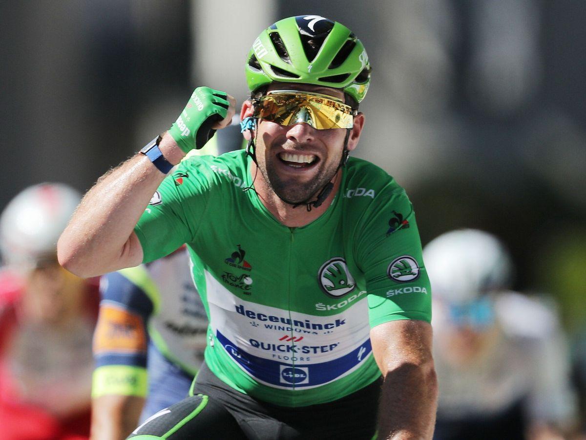 Foto: Cavendish celebra la etapa. (EFE)