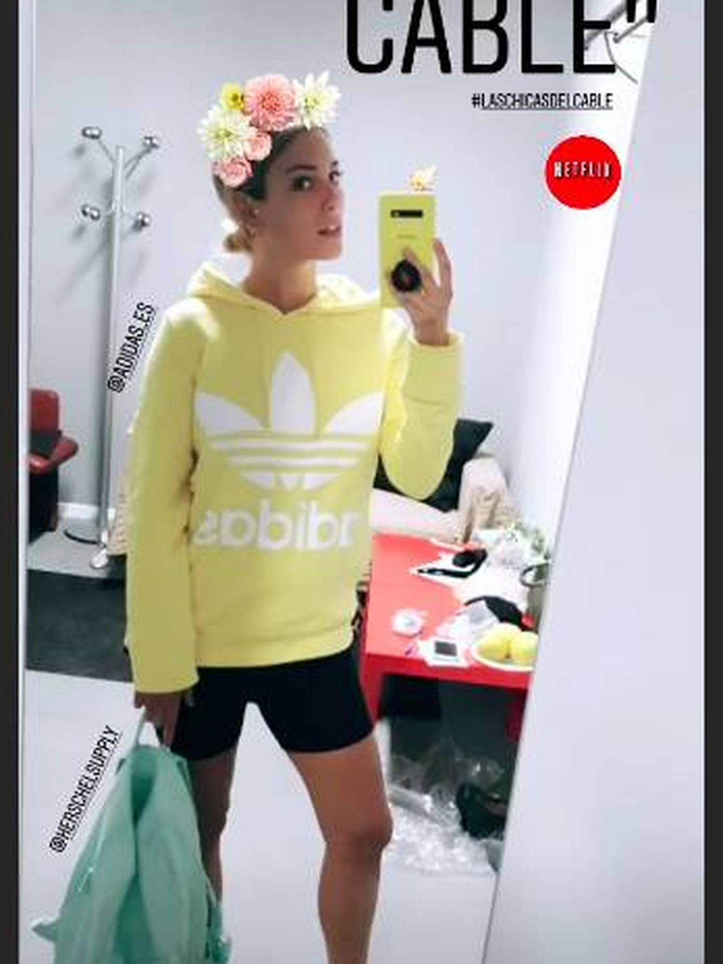 El look de Blanca Suárez con las mallas de ciclista. (Instagram)
