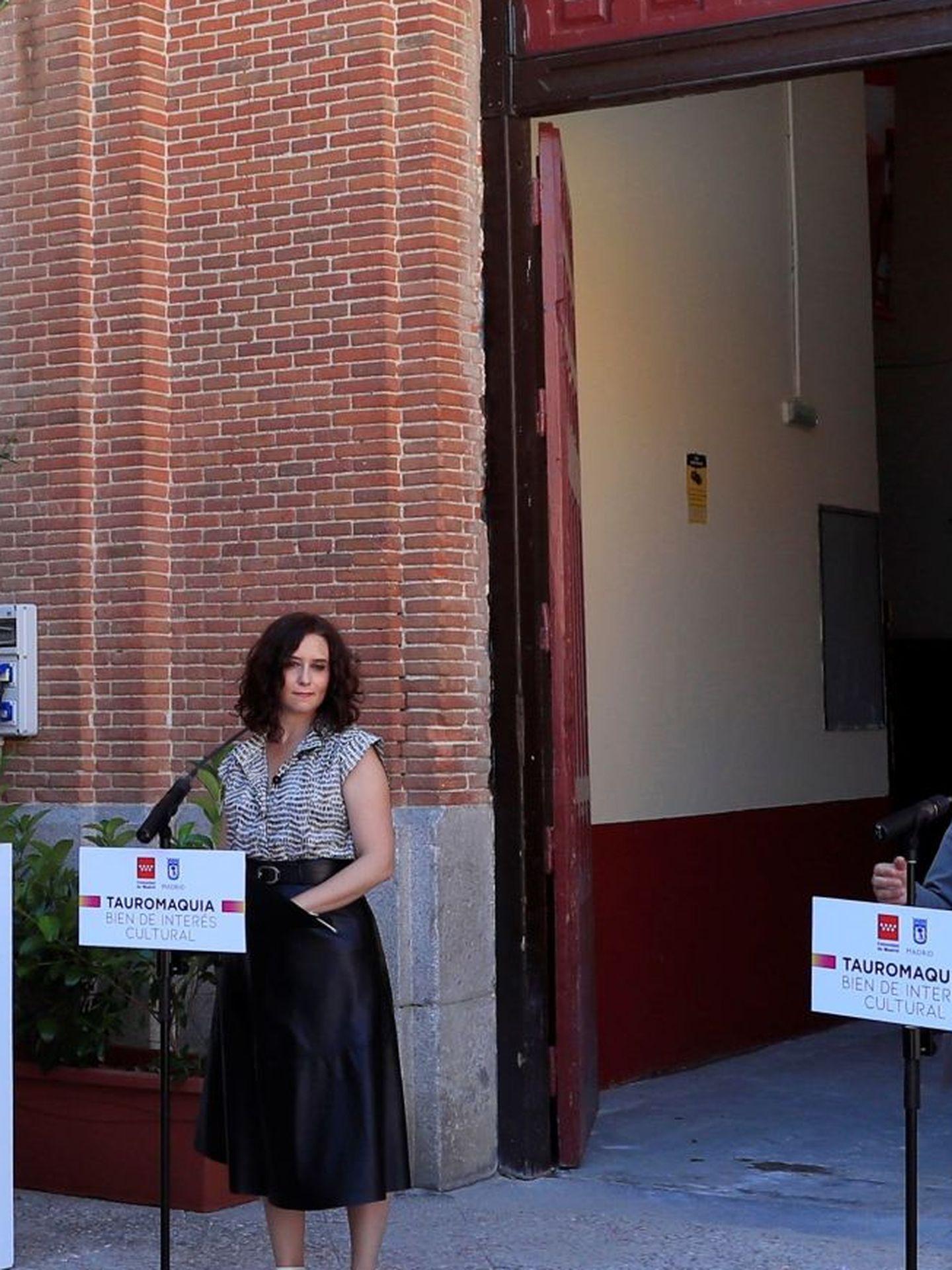 Andrea Levy, en la plaza de toros de Las Ventas. (EFE)