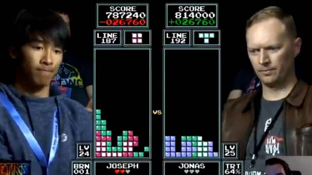 Foto: Un momento de la gran final del Mundial de Tetris 2018.