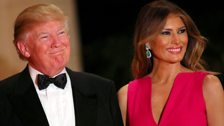Donald y Melania Trump. (Reuters)