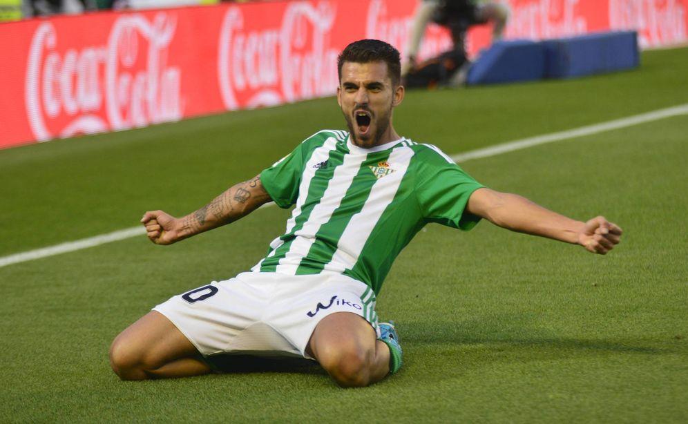 Foto: Dani Ceballos celebra un gol marcado con el Betis. (Cordon Press)