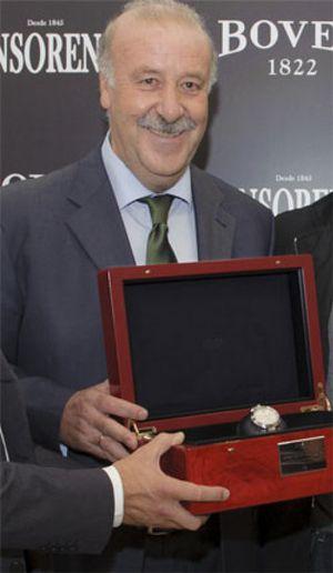 Del Bosque recauda 24.000€ por su reloj del Mundial
