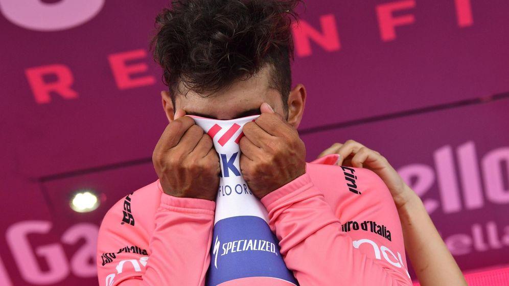 Foto: Gaviria estaba como loco vestido de rosa. (EFE/EPA)