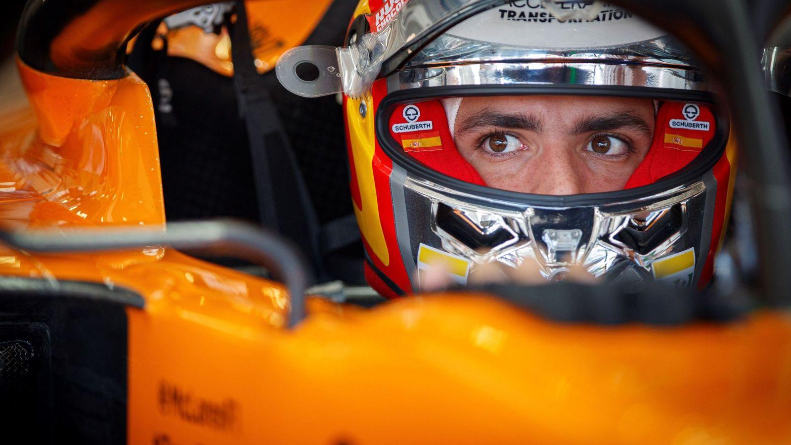 Foto: Carlos Sainz acabó feliz por su remontada. (EFE)