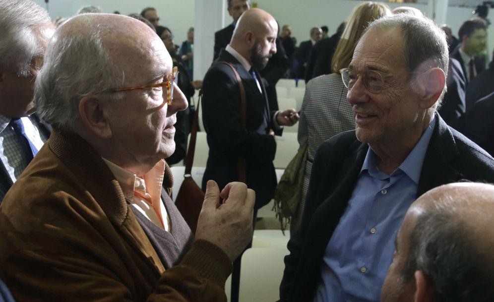 Foto: Joaquín Almunia y Javier Solana. (EFE)