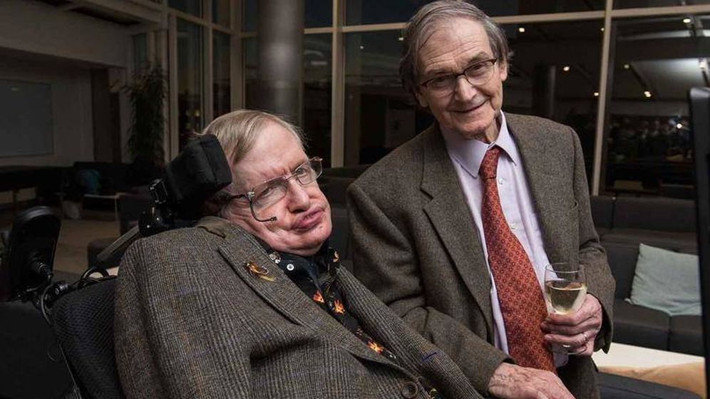 Foto: Roger Penrose junto al físico Stephen Hawking.