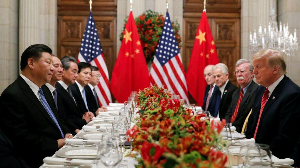 Foto: Equipo negociador chino y estadounidense. (Reuters)