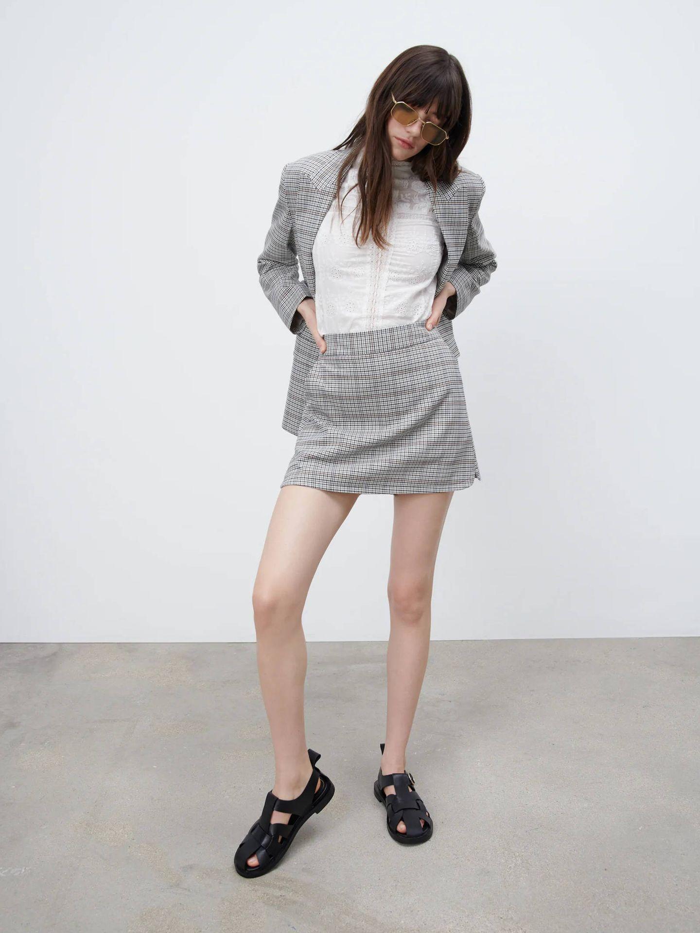 Americana oversize de Zara. (Cortesía)