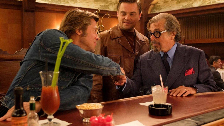 Pitt, Di Caprio y Pacino en la película. (Sony Pictures)