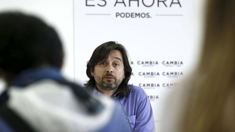 Foto: Rafa Mayoral, secretario de relaciones con los movimientos sociales de Podemos. (EFE)