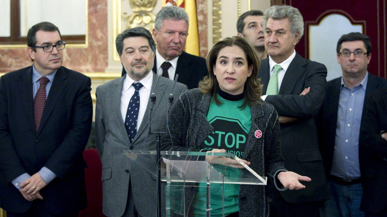 Ada Colau, en el Congreso de los Diputados. (Efe)