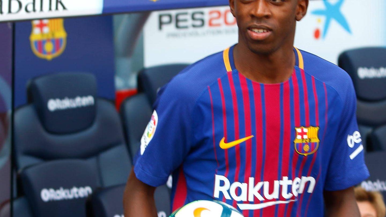 El jugador Ousmane Dembélé el día de su presentación en el Barcelona. (Gtres)