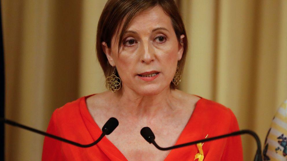 Forcadell acusa a Rajoy de dar un golpe de Estado de facto con el cumplimiento del 155
