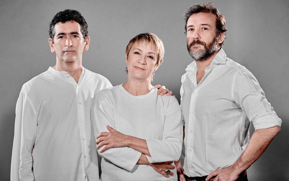 Foto: Juan Mayorga, Blanca Portillo y José Luis García Pérez estrenan 'El Cartógrafo' (MarcosGpunto)