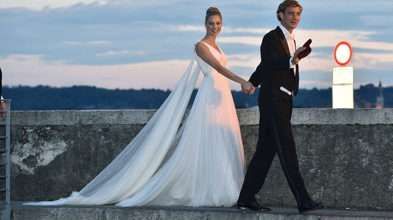 Pierre y Beatrice el día de su boda. (Getty Images)