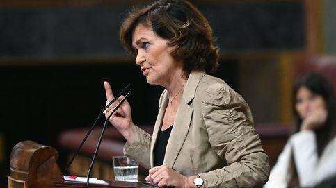 La vicepresidenta carga contra Podemos: Con lo de 'Calvini' han llegado muy lejos