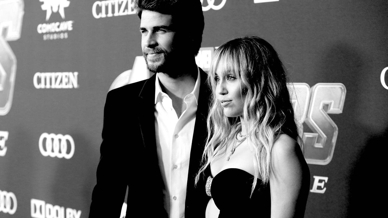 Liam y Miley, cuando aún eran pareja. (Getty)