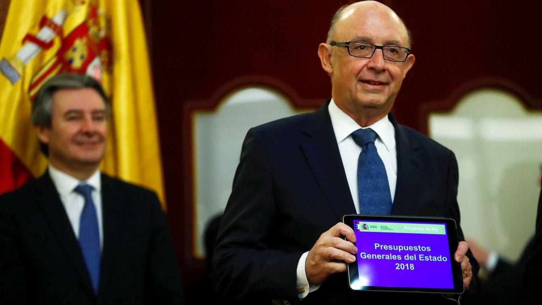 Foto: El ministro de Hacienda, Cristóbal Montoro, durante la presentación de los PGE en el Congreso (Reuters)