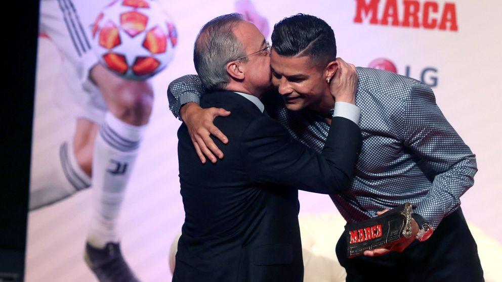 El beso de Florentino Pérez a Cristiano Ronaldo y la pena de haberse ido de Madrid