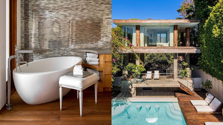 La casa de Pamela Anderson en Malibú. (Shade Degges / The Tomer Fridman Group)