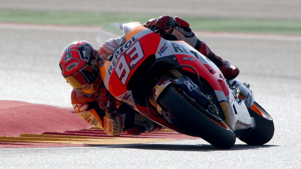 Foto: Marc Márquez saldrá desde la 'pole' en el Gran Premio de Aragón (Efe).