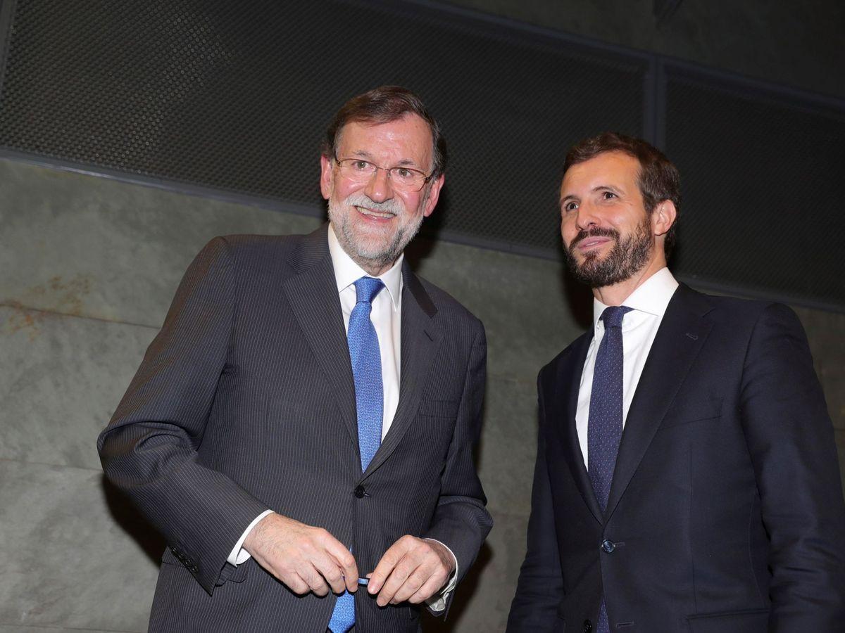 Foto: Mariano Rajoy y Pablo Casado. (EFE)