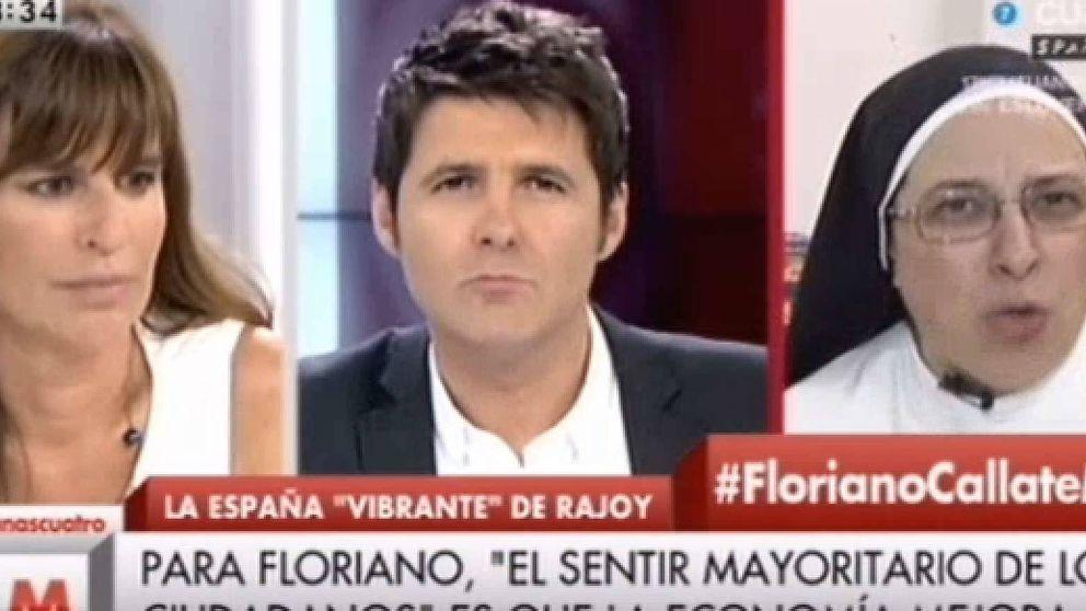 Sor Lucía Caram: Carlos Floriano es el idiota útil del Partido Popular