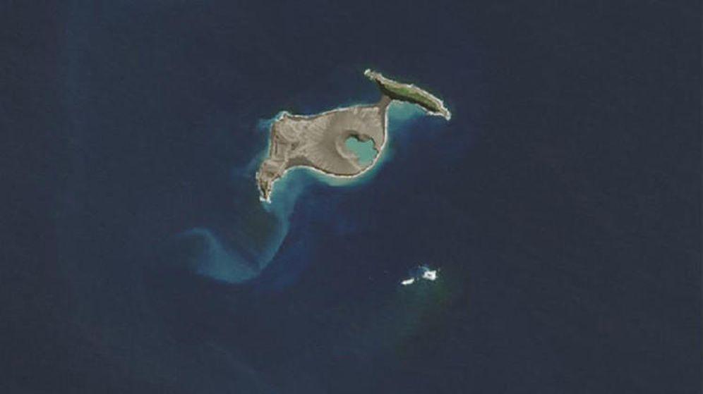 Foto: La isla en la imagen tomada por la NASA