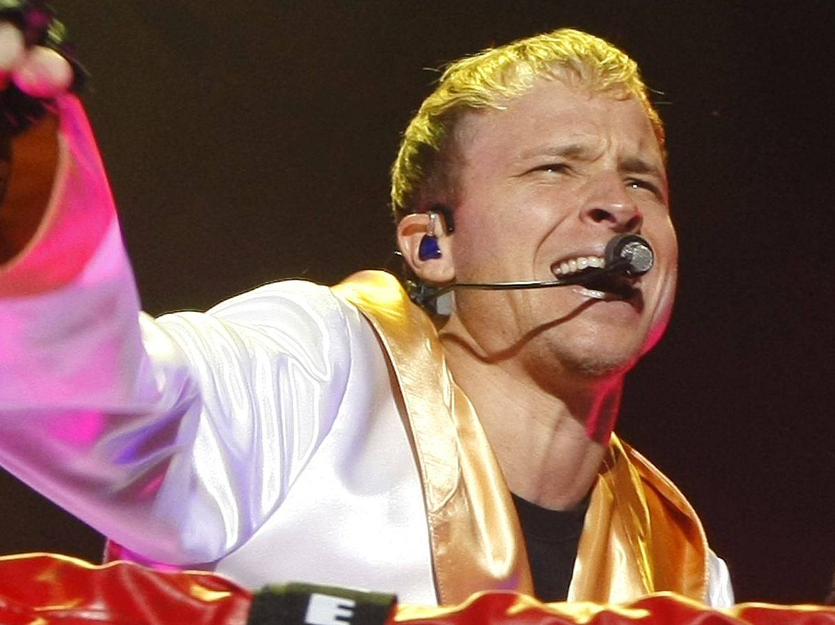 Foto: Brian Littrell, en el concierto de Backstreet Boys en Madrid año 2008. (EFE)