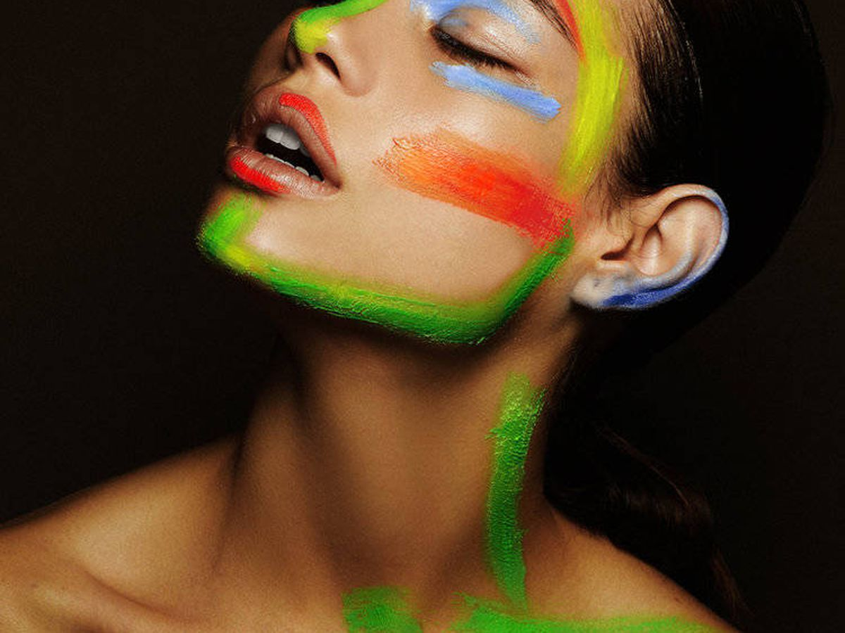 Foto: Maquillaje con arte. (Natalia Belda.com) Fotógrafo: Juanjo Molina. Modelo: Carmen Santacruz