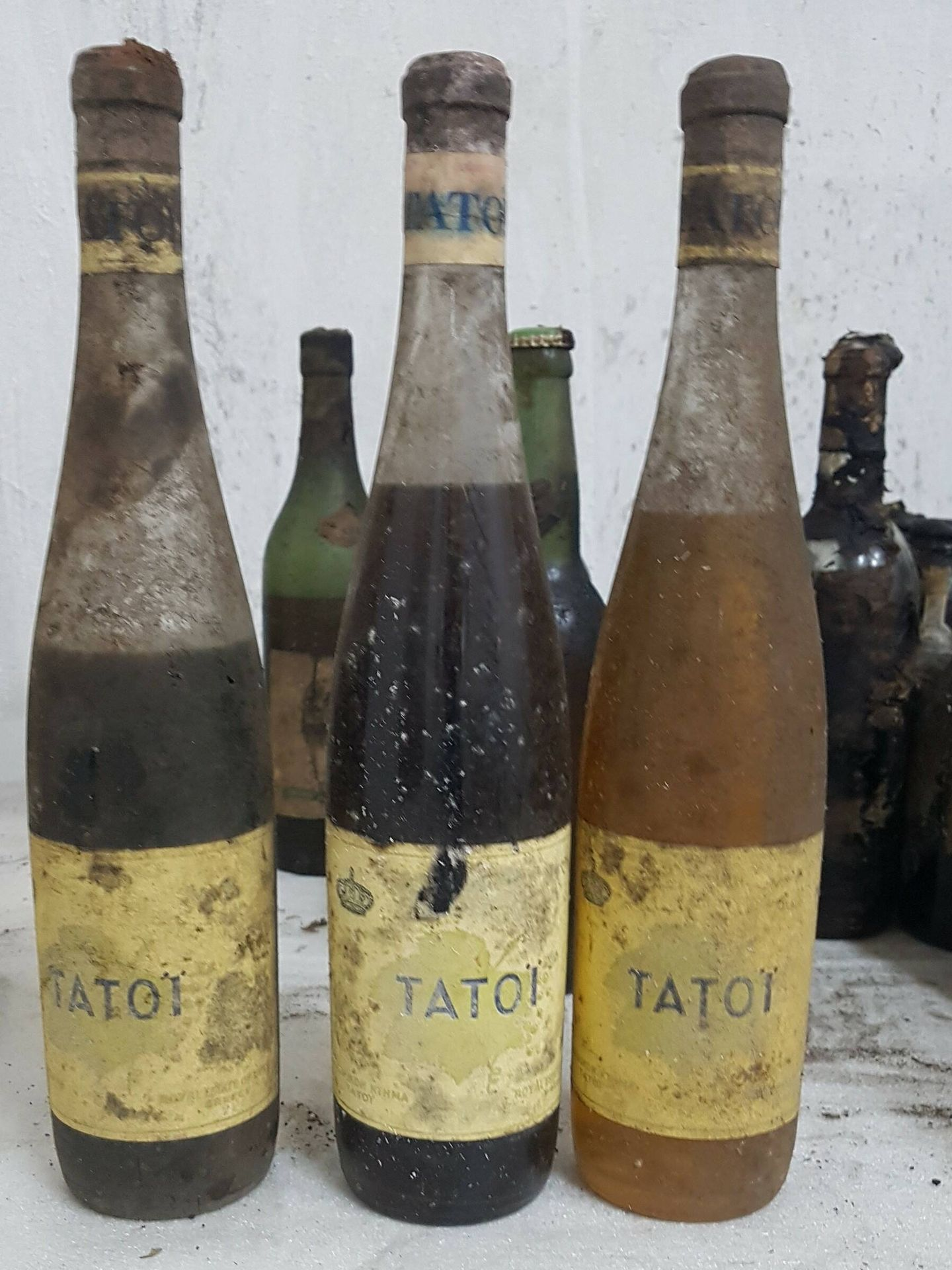 Algunos de los vinos encontrados. (Ministerio de Cultura griego)