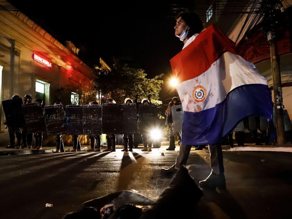 Foto: Disturbios en Asunción, Paraguay. (EFE)