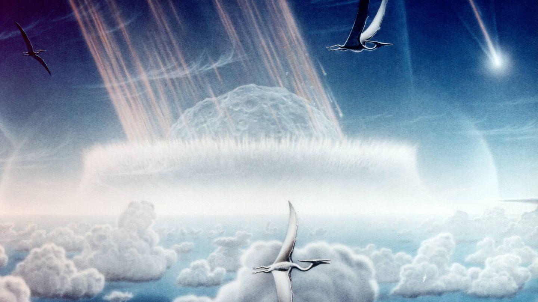 En las ilustraciones que se realizaban del impacto del Chicxulub siempre aparecían pterosaurios, una especie que desapareció en aquella época (Wikimedia Commons)