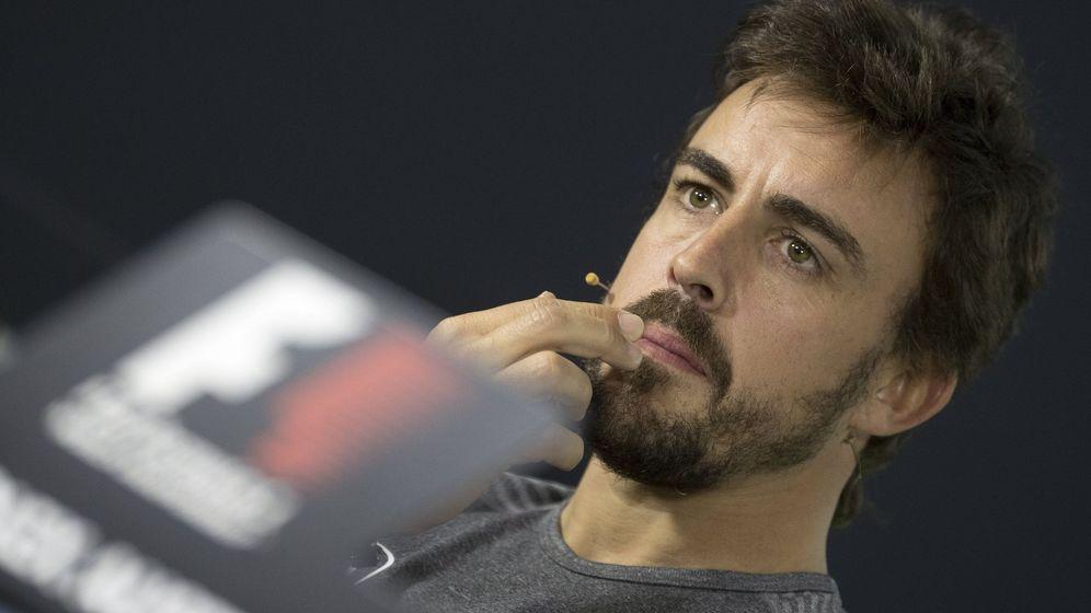 Foto: Fernando Alonso en la rueda de prensa del GP de Australia. (EFE)