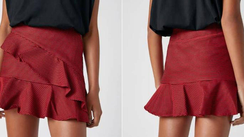 Falda de lentejuelas de Pull and Bear. (Cortesía)