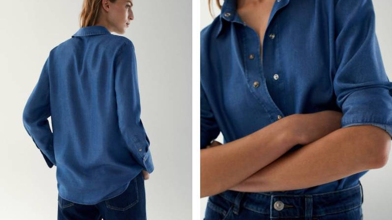 Camisa 'denim' de Massimo Dutti. (Cortesía)