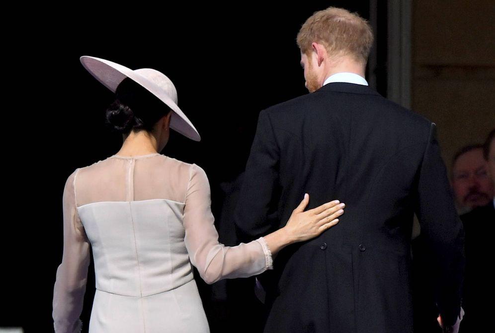 Foto:  Meghan y Harry, en el 70 aniversario del príncipe Carlos. (Gtres)