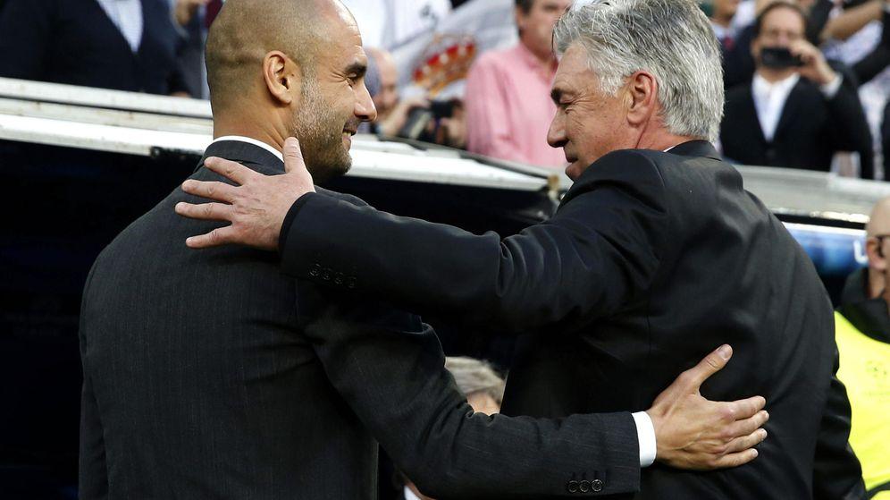 Foto: Ancelotti heredará el banquillo del Bayern de Guardiola (EFE).