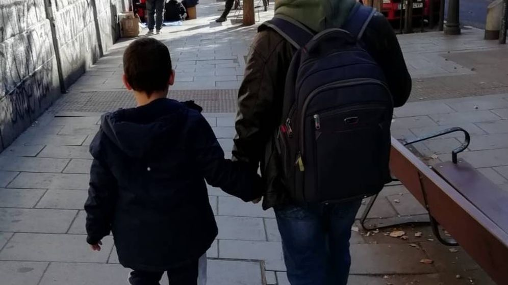 Foto: José Manuel Barbe, con su hijo Adrián.